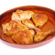 Roasted Portuguese chicken pieces — Stockfoto