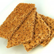 Healthy crispbread — Stock Photo