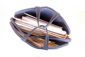 Briefcase full of work — Stock Photo