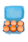 Six pack eggs — Stock Photo