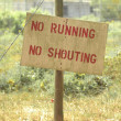 Sign in nature — Stock Photo #6467426