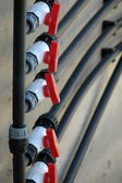 Red valves — Stock Photo