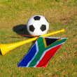 Soccer tools of South Africa — Stock Photo