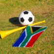 Royalty-Free Stock Photo: Soccer tools of South Africa