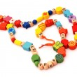 Necklace with beads — Stock Photo