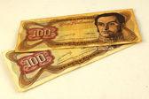 Bolivares bills — Stock Photo