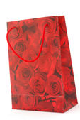 Red roses bag — Stock Photo