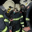 Stock Photo: Firemen in respirators