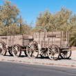 Ore Wagon in Death Valley - Stock Photo