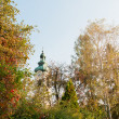 ストック写真: Church in Austrivillage in autumn