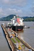Panama channel lock — Stock Photo