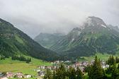 Villaggio alpino in austria — Foto Stock