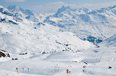 Ski resort in Austrian alps — Stock Photo