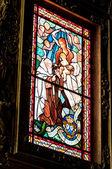 Window in the church — Stock Photo