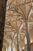 Cathedrals ceiling and columns — Stock Photo