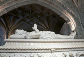 Sarcophagus in the cathedral — Stock Photo