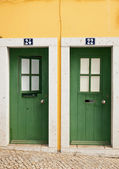 Doors of the house in Portugal — Stock Photo