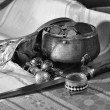 Royalty-Free Stock Photo: Desired treasure - the Black-and-white version