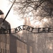 Auschwitz sign in sepia — Stock Photo #6109051