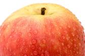 Red apple macro — Stock Photo