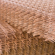Rebar meshes on pile — Stock Photo