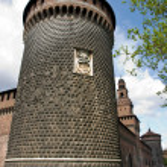 Sforzesco castle — Stock Photo