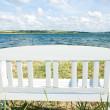 Couch by the sea — Stock Photo