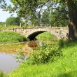 Old swedish stone bridge — Stock Photo