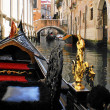 Gondola in a small canal — Stock Photo #6246185