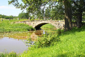 Old swedish stone bridge — Stock Photo