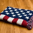 Stock Photo: Americflag blanket