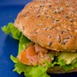 Stock Photo: Salmon burger