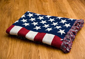 American flag blanket — Stock Photo