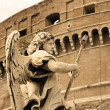 Angel sculpture from Ponte Sant&#039;Angelo bridge in Rome - Stock Photo