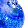 Blue glass ball - Stock Photo