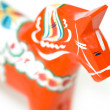 Swedish dala horse — Stock Photo