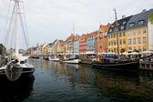 Copenhagen, Denmark - colorful buildings of Nyhavn street — Stock Photo