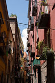 Street alley in Naples — Stock fotografie