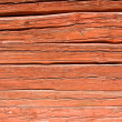 Red log wall — Stock Photo #6428059