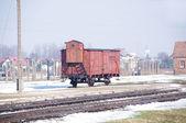 Oude trein wagen, auschwitz — Stockfoto