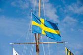 Swedish flag — Stock fotografie