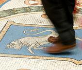Details on floor in Milan shopping gallery — Stock Photo