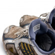 Stock Photo: Dirty running shoes