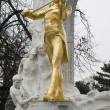Golden Johann Strauss in Vienna — 图库照片