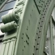Green iron detail at burggarten — Stock Photo