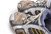 Dirty running shoes — Stock Photo