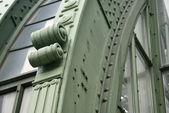 Green iron detail at burggarten — Stock Photo