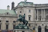 Palace Hofburg in Vienna wintertime — Stock Photo
