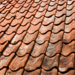 Old roof tiles — Stockfoto