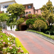 Lombard street in SF - Stock Photo